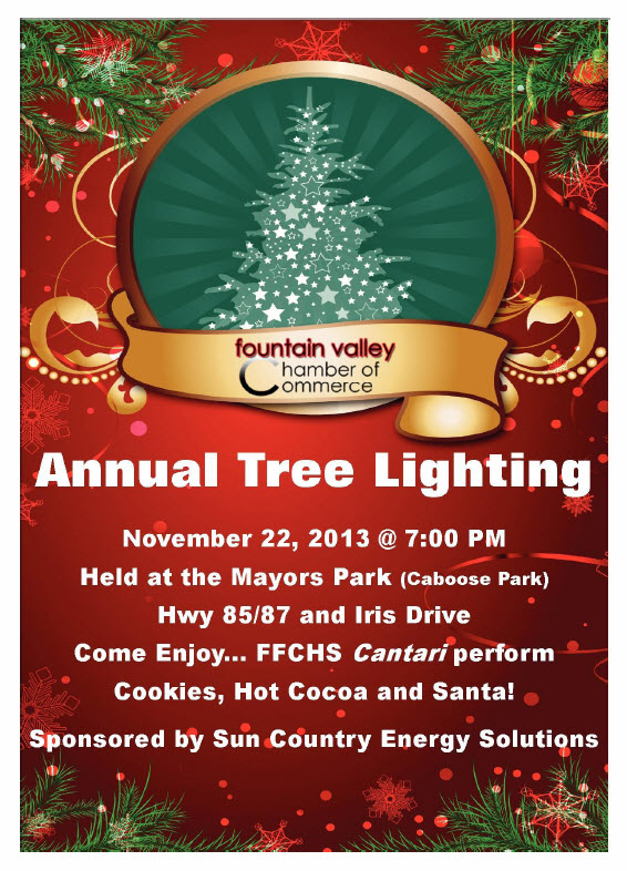Tree Lighting at Mayors Park