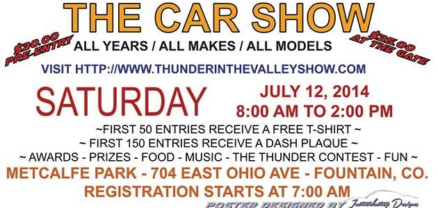 Thunder in The Valley Car Show This Weekend