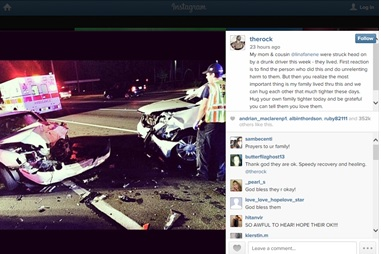 Dwayne Johnson Emotional After Mother Survives Car Accident