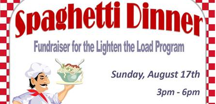 Spaghetti Dinner Fundraiser at Coke's Diner on Sunday