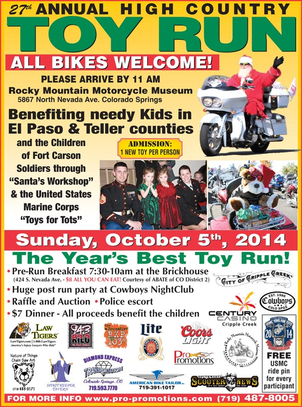 27th annual High Country Toy Run