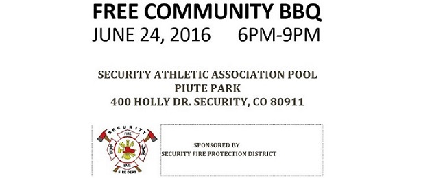 Free Community BBQ In Security