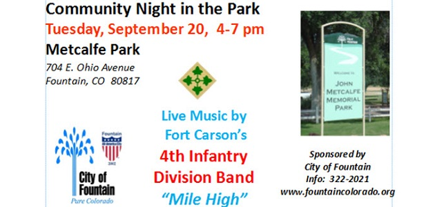 Community Night in the Park in Fountain