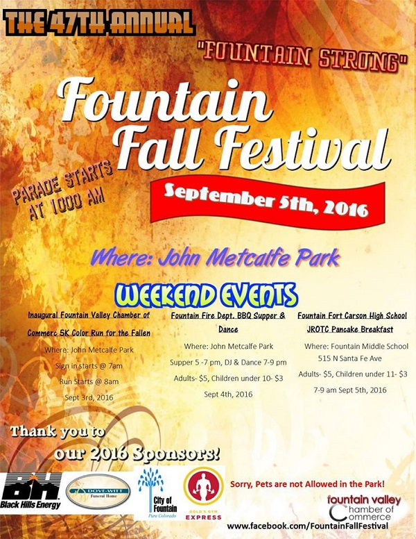 Fountain Fall Festival on Labor Day Weekend
