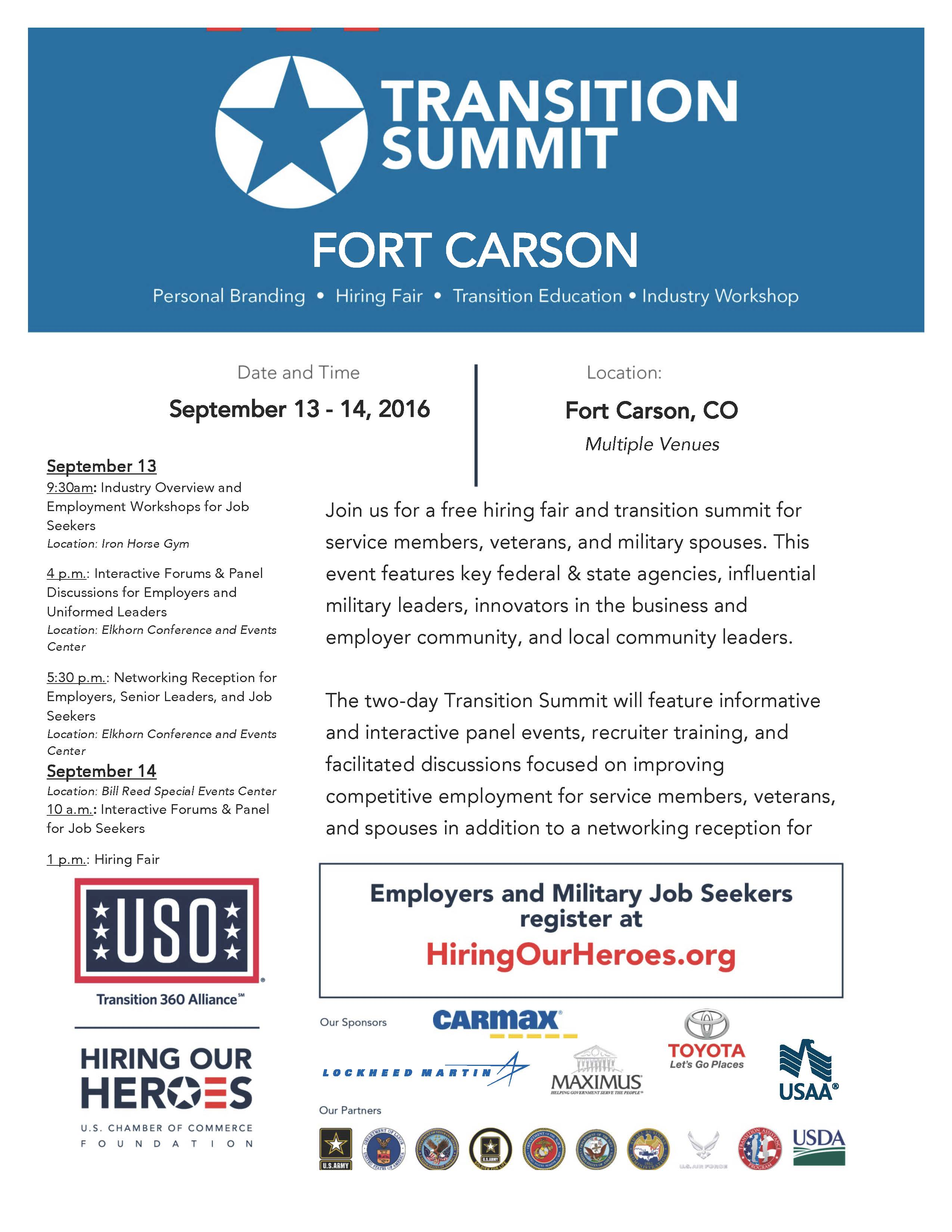 Fort Carson hosts Transition Summit