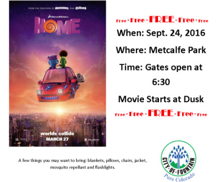 Free Movie in the Park in Fountain
