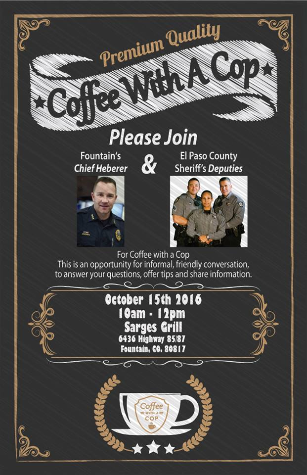 Coffee With A Cop At Sarge's Grill