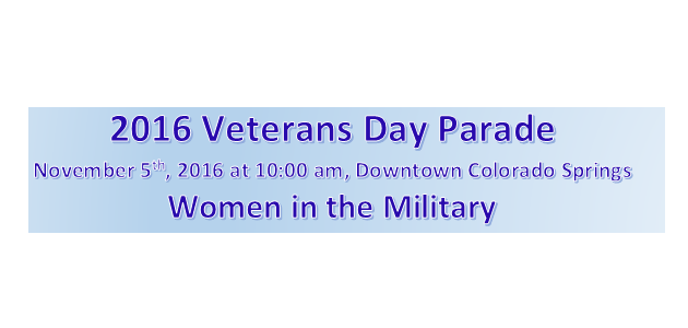 Veterans Day Parade in Colorado Springs