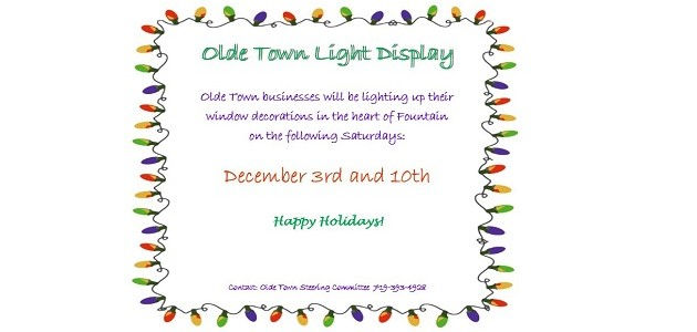 Old Town Fountain Lighting Event