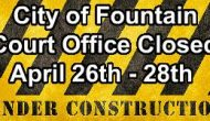 City of Fountain Court Office Closed