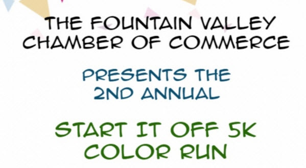 Fountain Valley 5K Color Run on Saturday