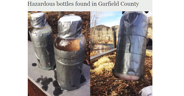 "Beware of ""River Bottles"", Notify Law Enforcement Immediately"