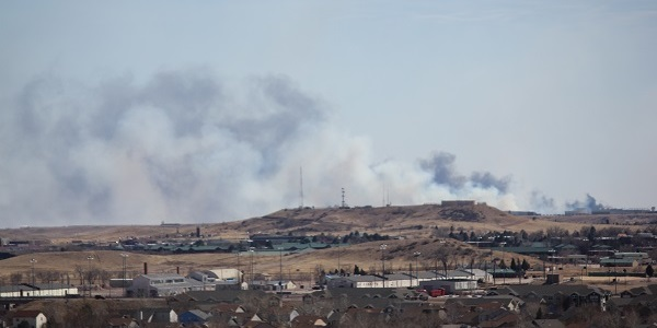 Fire Evacuations Ordered Near Fountain, CO