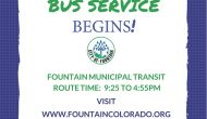 Fountain Bus Services Now on Saturday