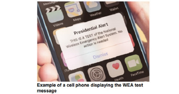 FEMA Alert On Cell Phone October 3, 2018