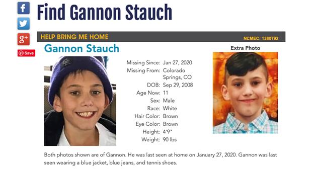 Find Gannon Stauch Volunteer's Needed
