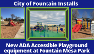 New ADA Playground at Fountain Mesa Park