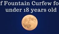 City of Fountain Curfew Hours