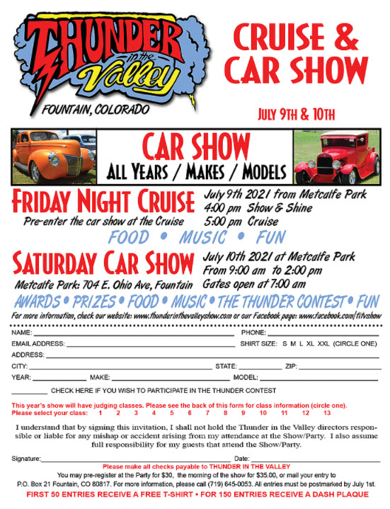 Thunder in the Valley Cruise & Car Show